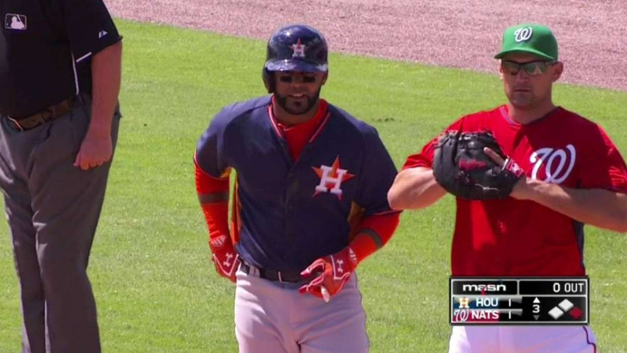 Villar goes 1-for-2, notches RBI vs. Nationals