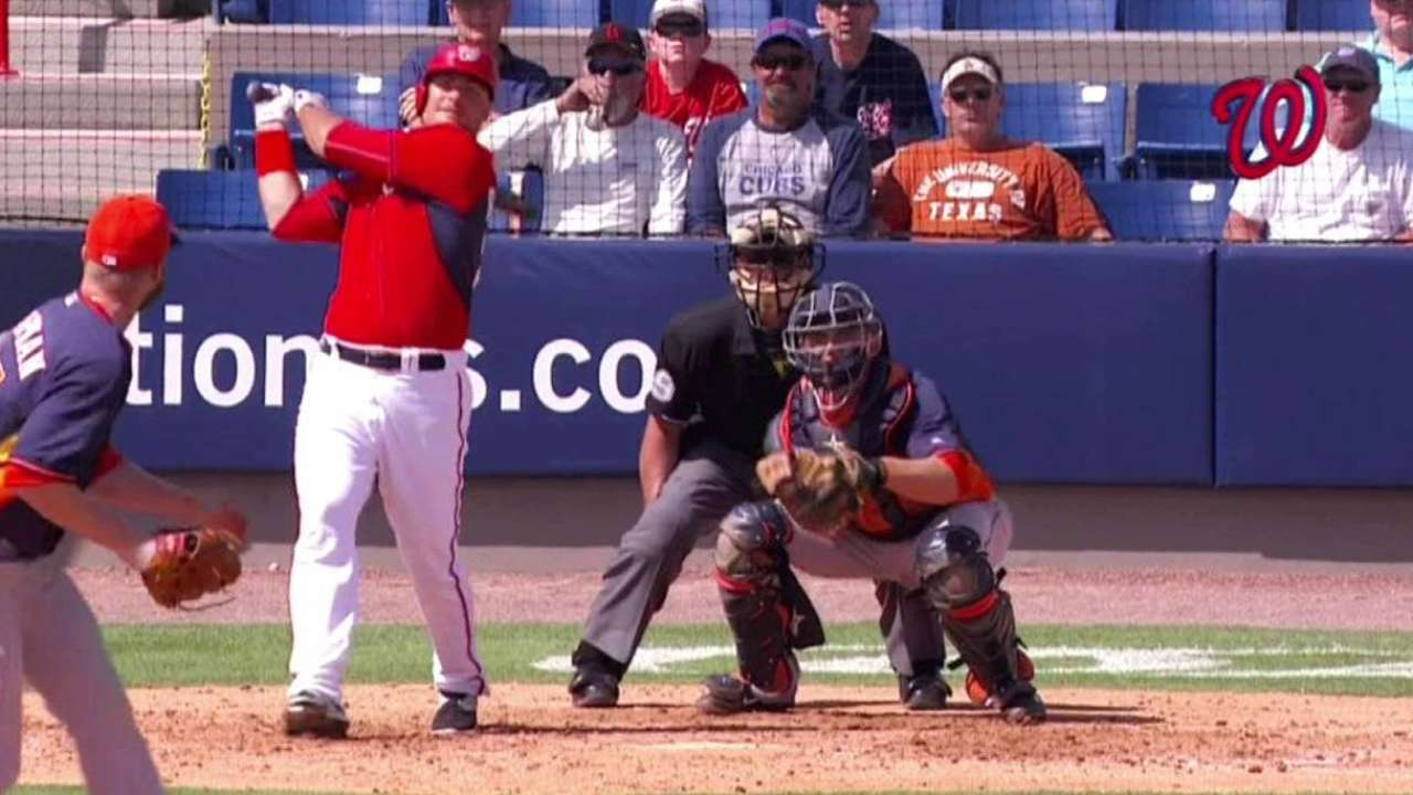 Robinson continues strong spring with RBI triple