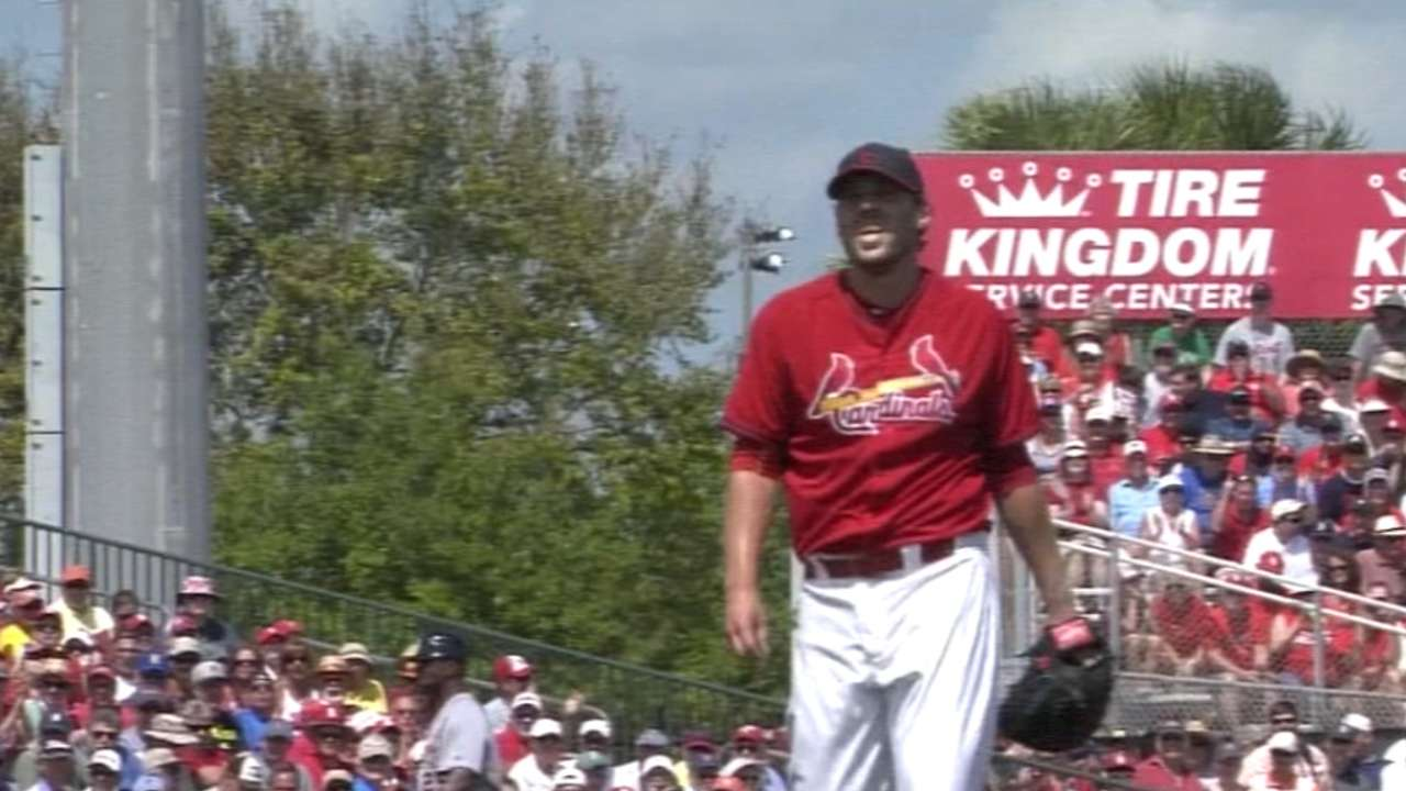 Matheny sees Lackey's, bullpen's performance as '15 blueprint