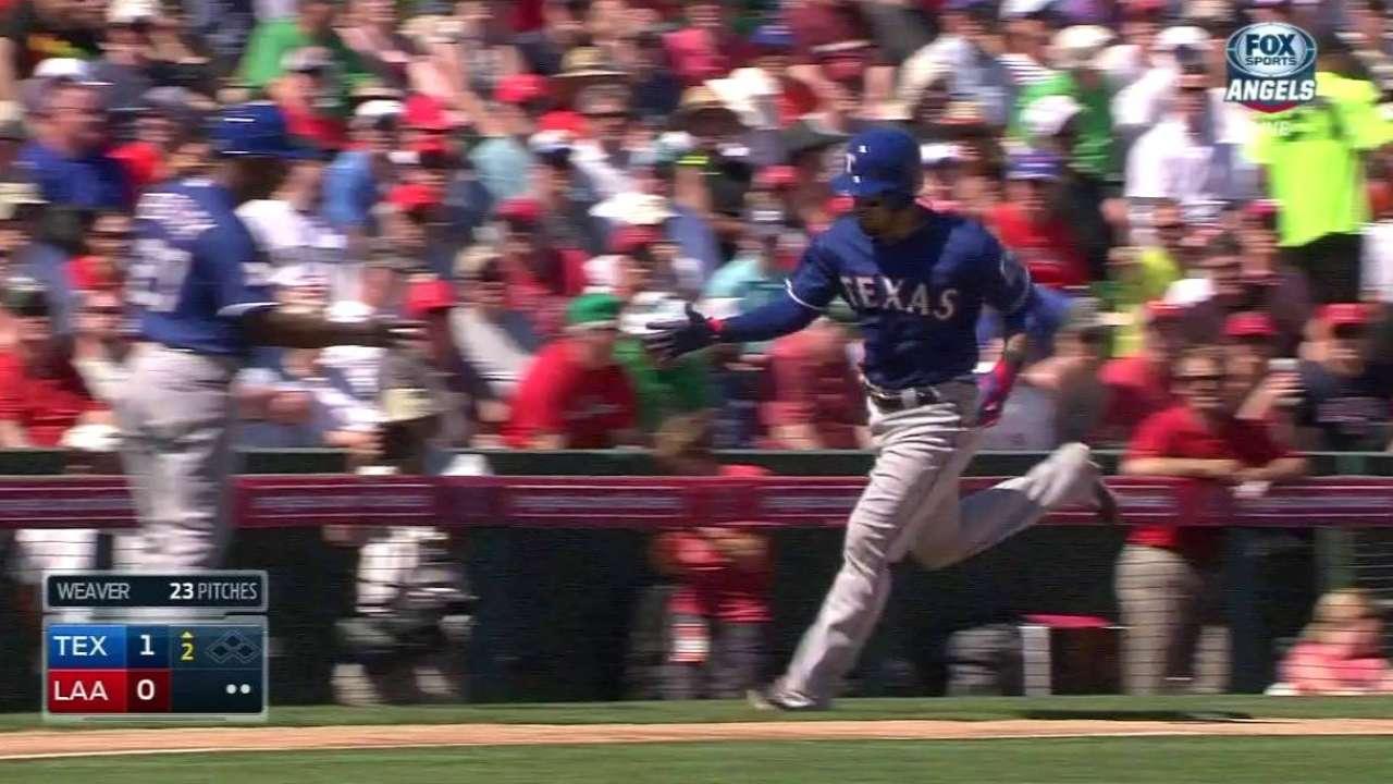 Rangers show muscle, but Bonilla falters vs. Angels