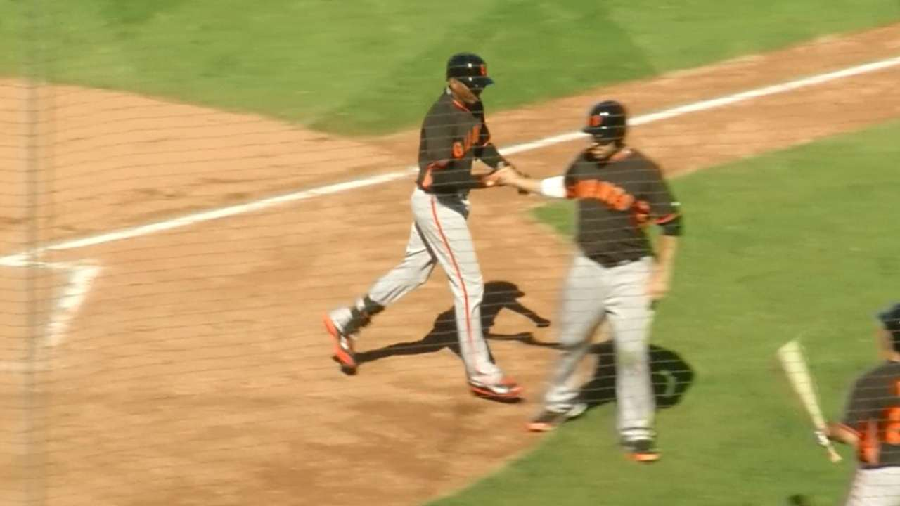 Arias, Triunfel homer, but Giants outslugged by Reds