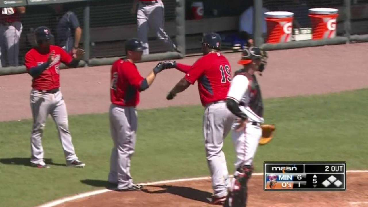 Twins' 4 homers touch all the bases