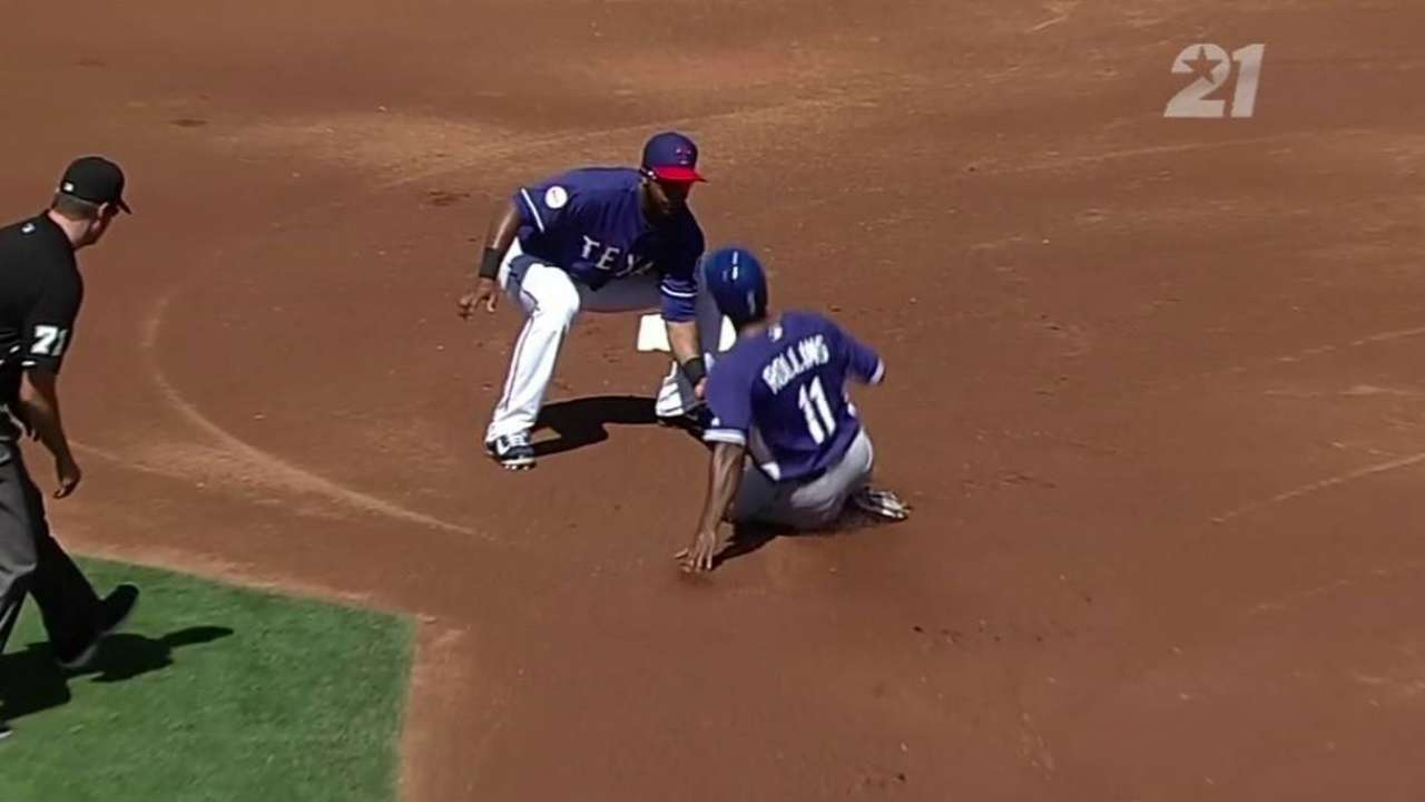 Chirinos throws out Rollins
