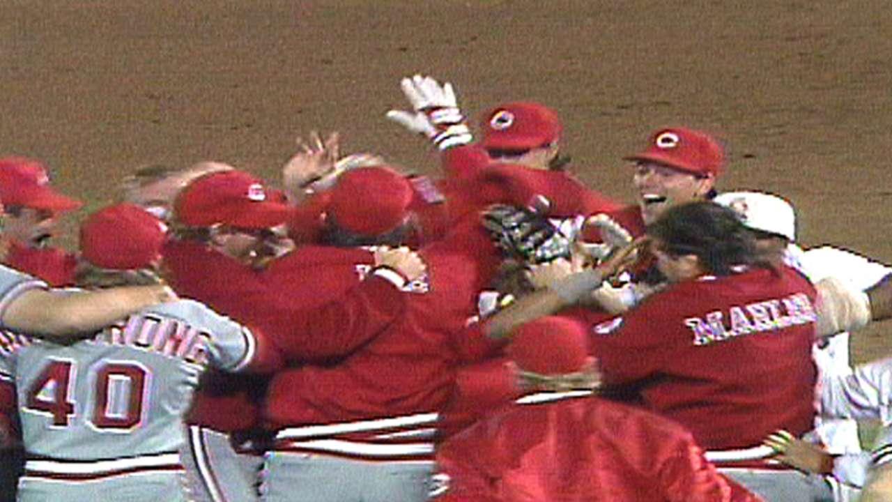Reds win 1990 Series