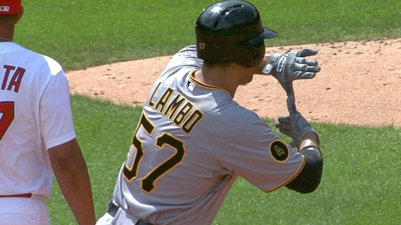 A's claim outfielder Lambo from Pirates