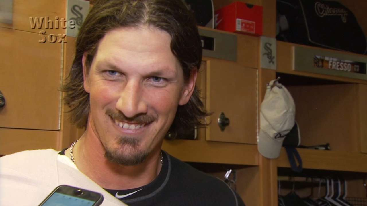 Samardzija solid, Thompson homers to net tie