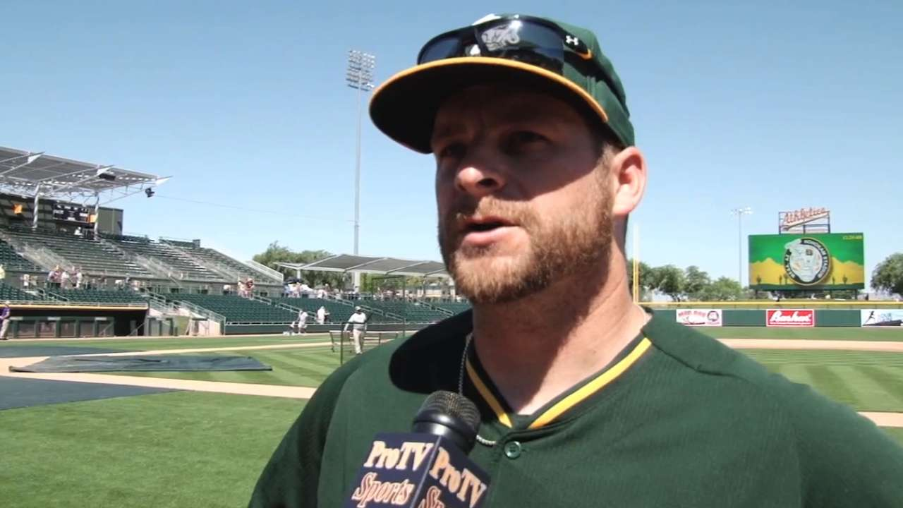 Vogt excited about A's pitching
