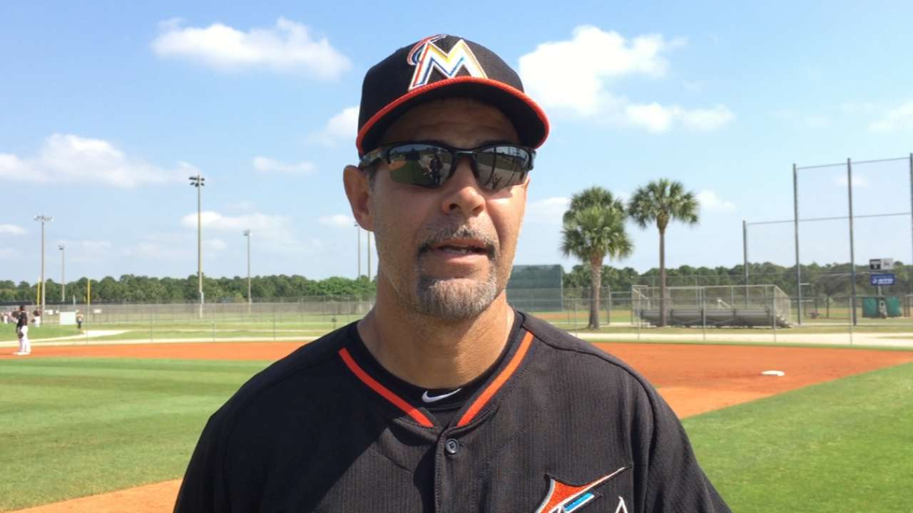 Lowell sees good mix in Marlins' camp