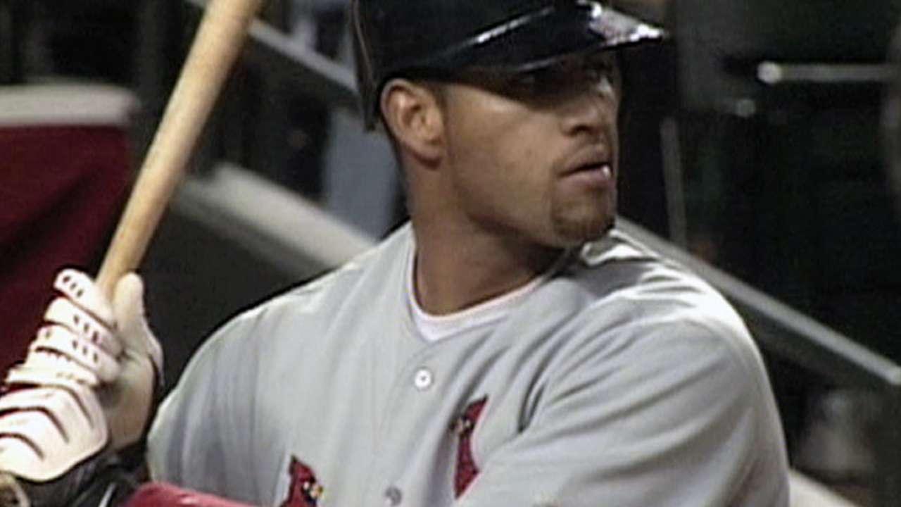 Pujols' first homer in Majors