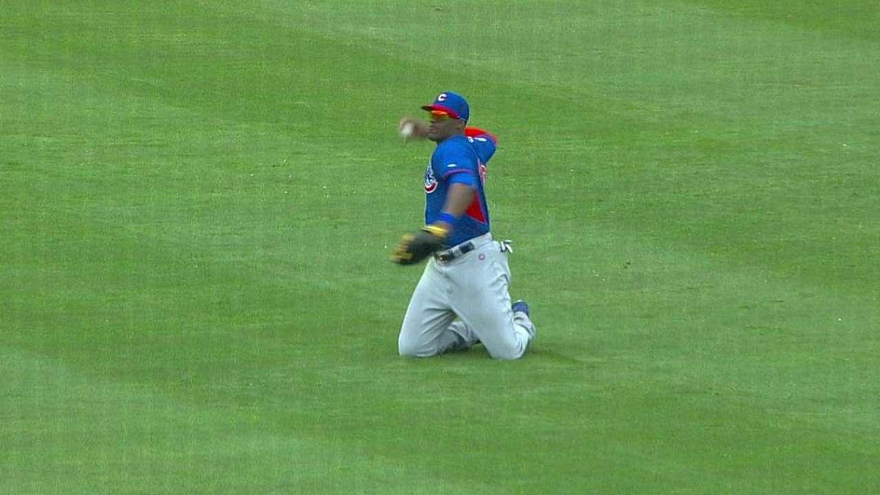 Soler's diving grab