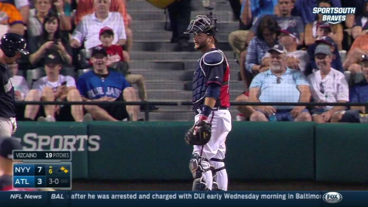 Pierzynski's ejection news to Braves manager
