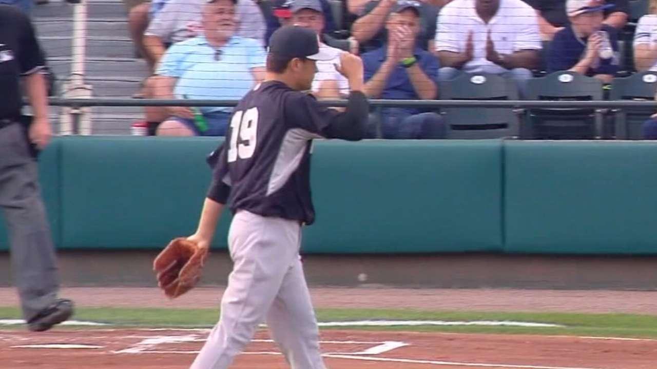 Tanaka's three strikeouts