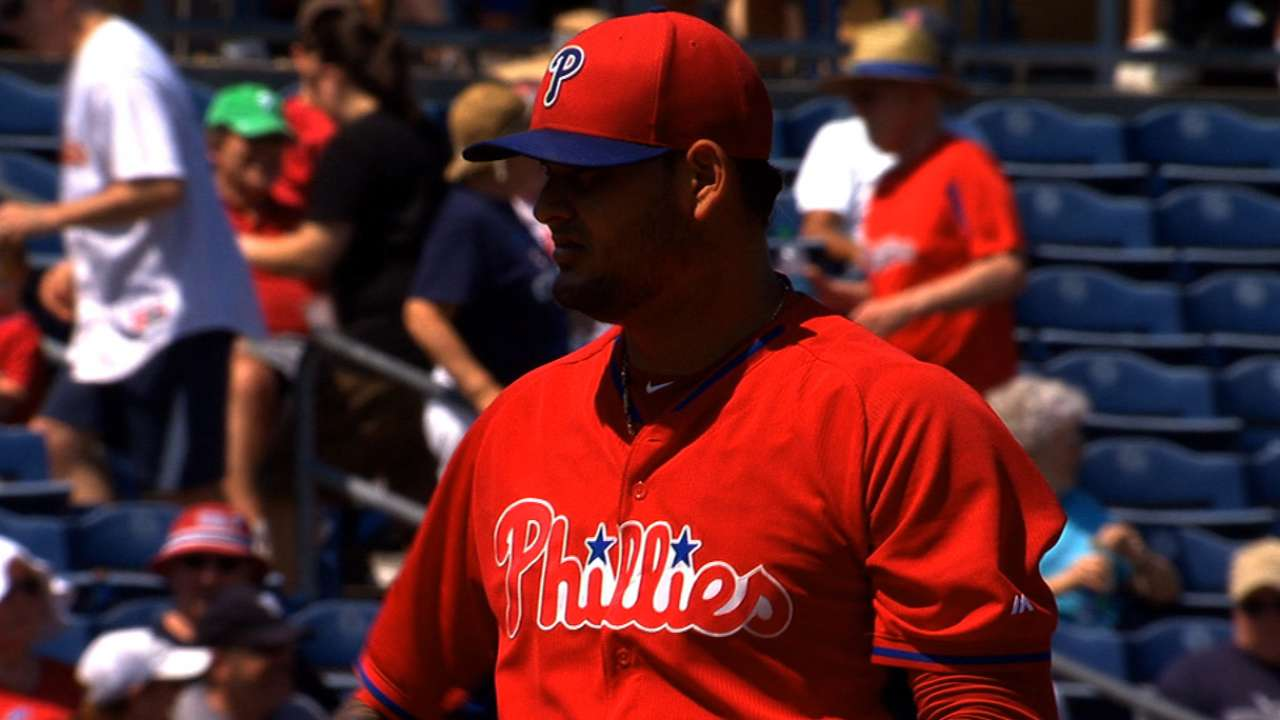 Phillies call up Araujo; Billingsley to start Tuesday