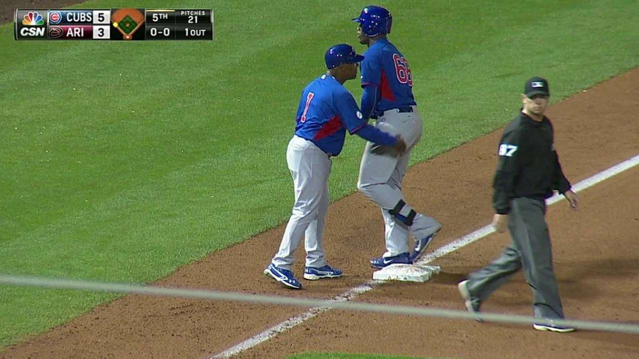 Soler laces RBI triple as Cubs fall to D-backs