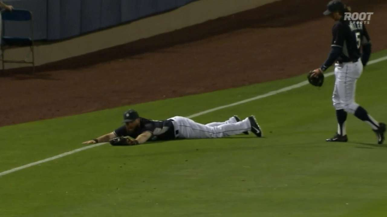 Ackley's diving save