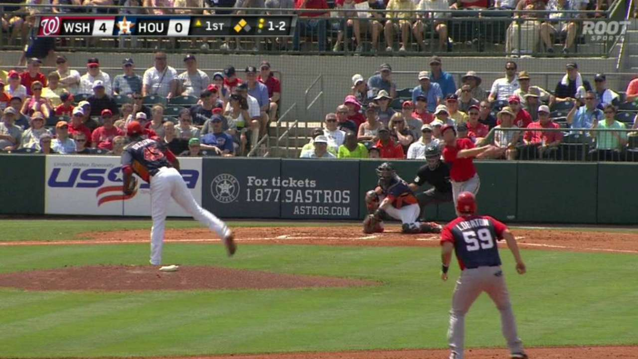 Deduno strikes out Scherzer