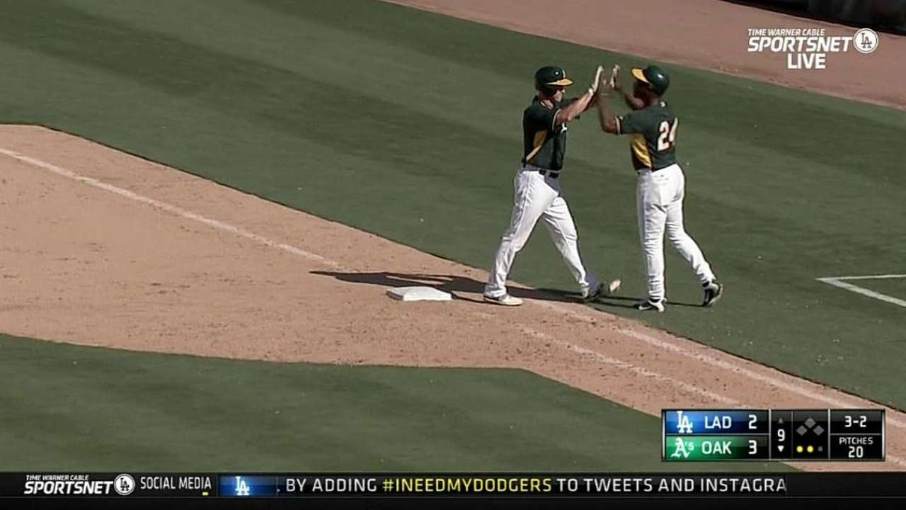 Gray turns in solid start in A's walk-off win