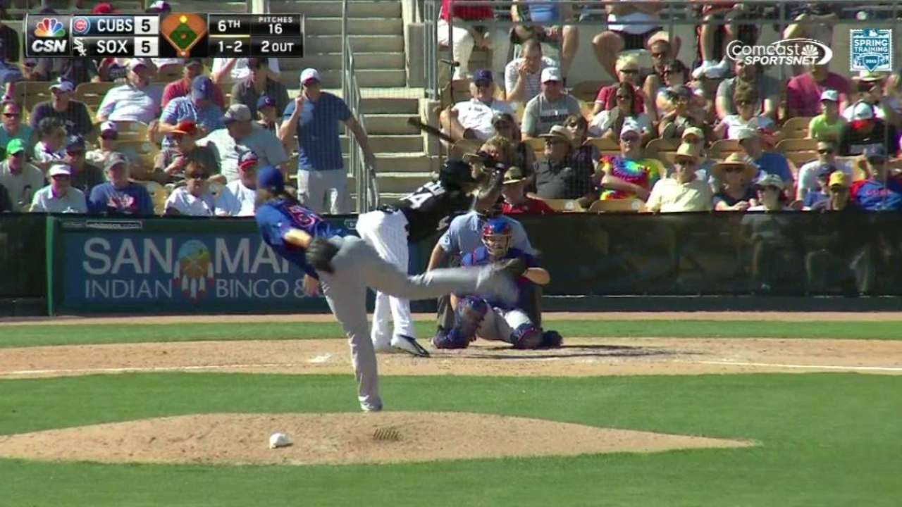Cubs place Grimm on DL with forearm injury, recall Schlitter
