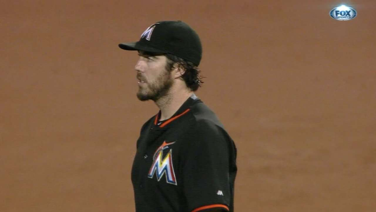 Haren's first walk of spring proves costly