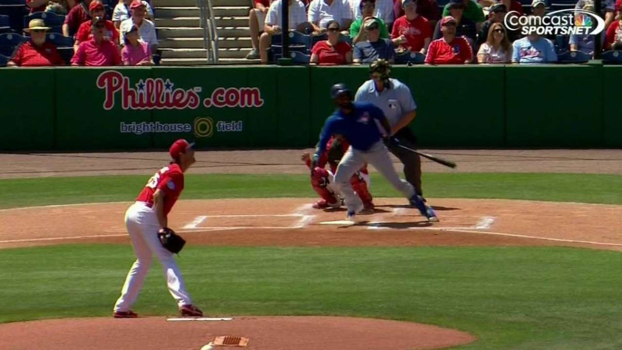 Reyes' leadoff home run