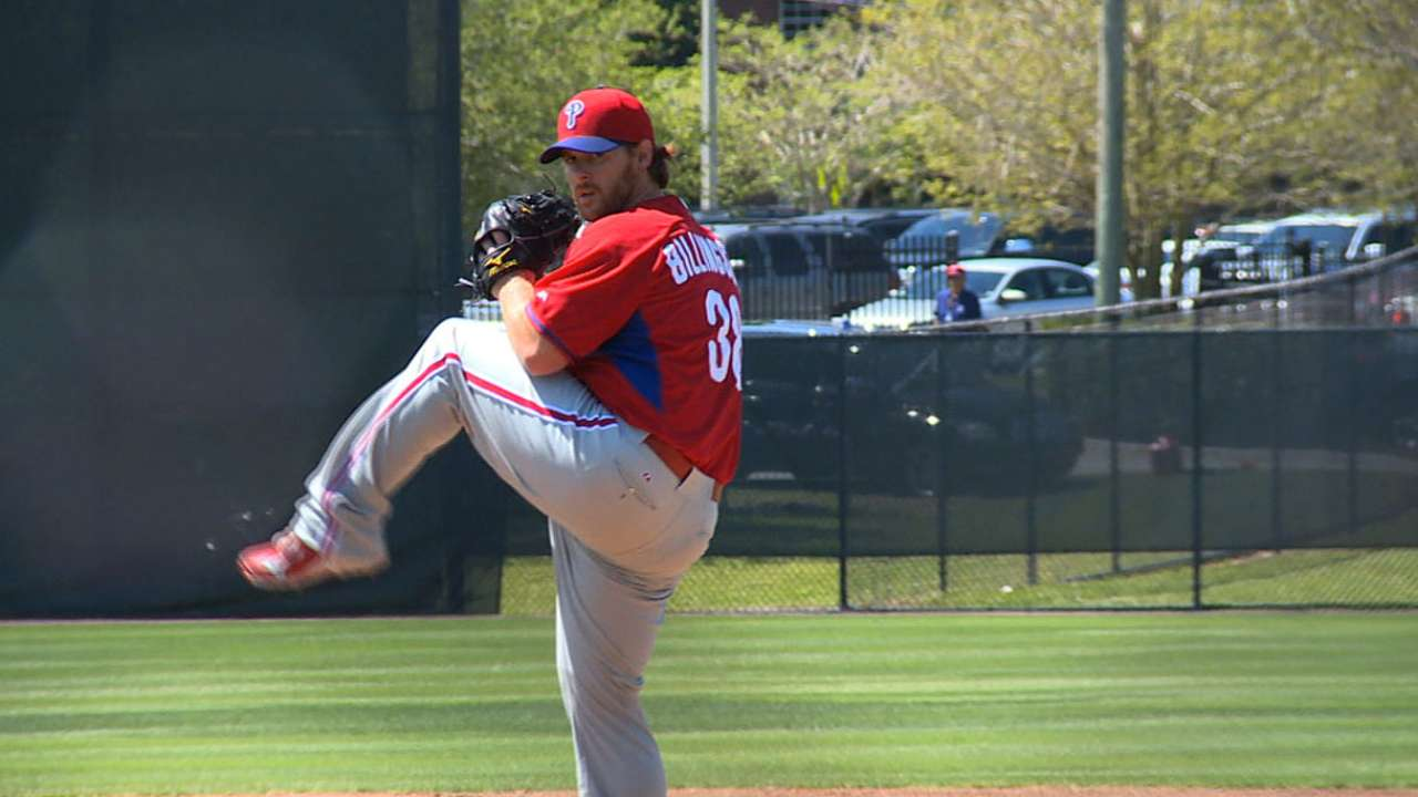 Billingsley nears debut in Phillies' rotation