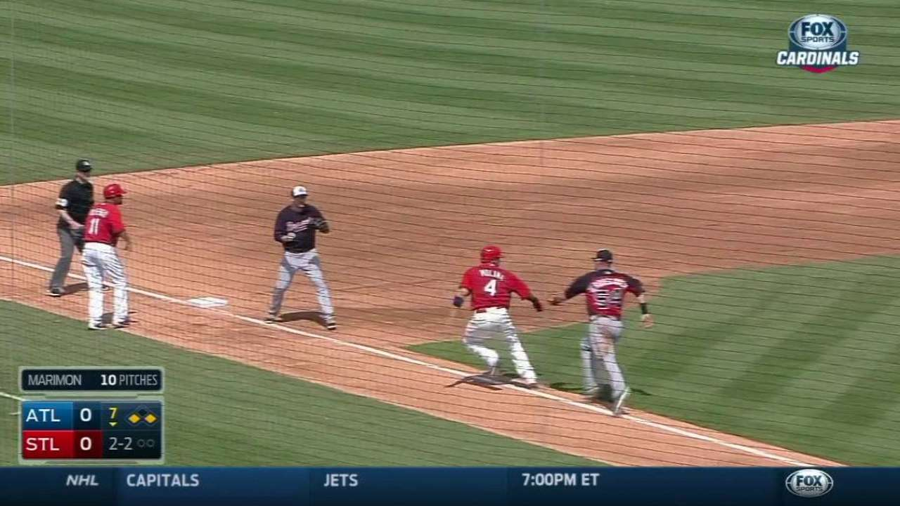 Terdoslavich injures hand on unassisted double play