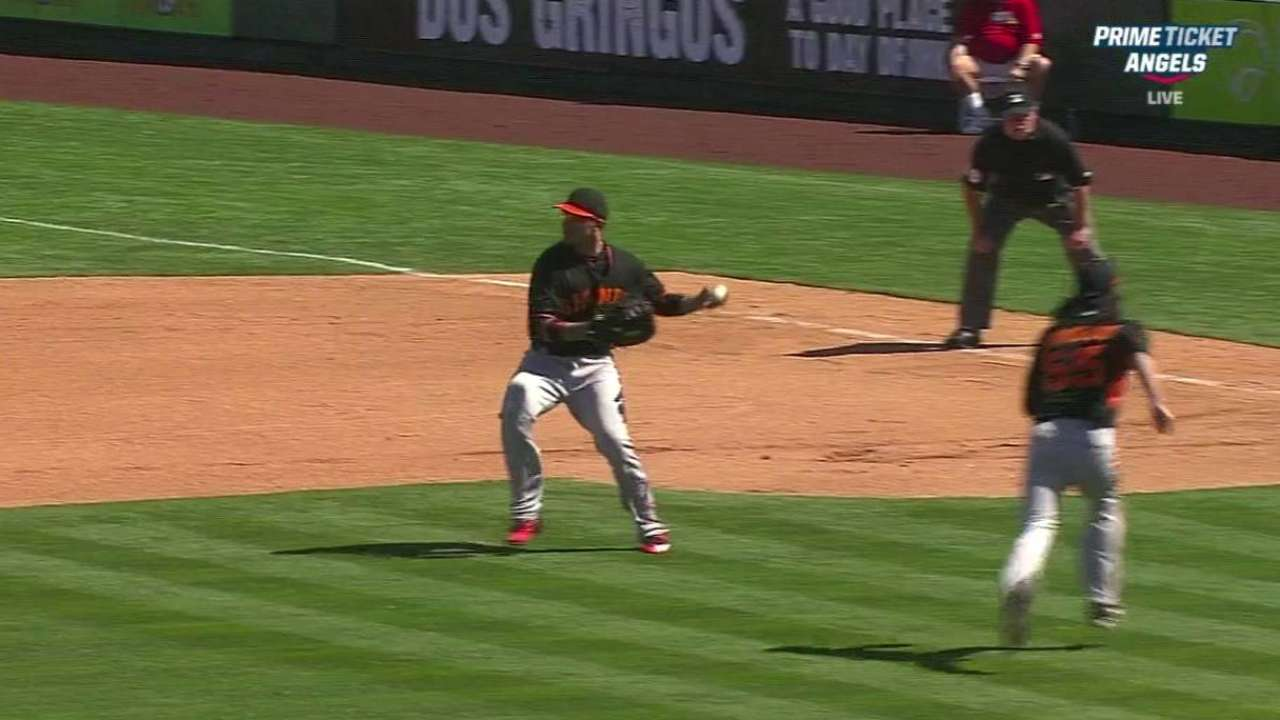 Lincecum gets a double play