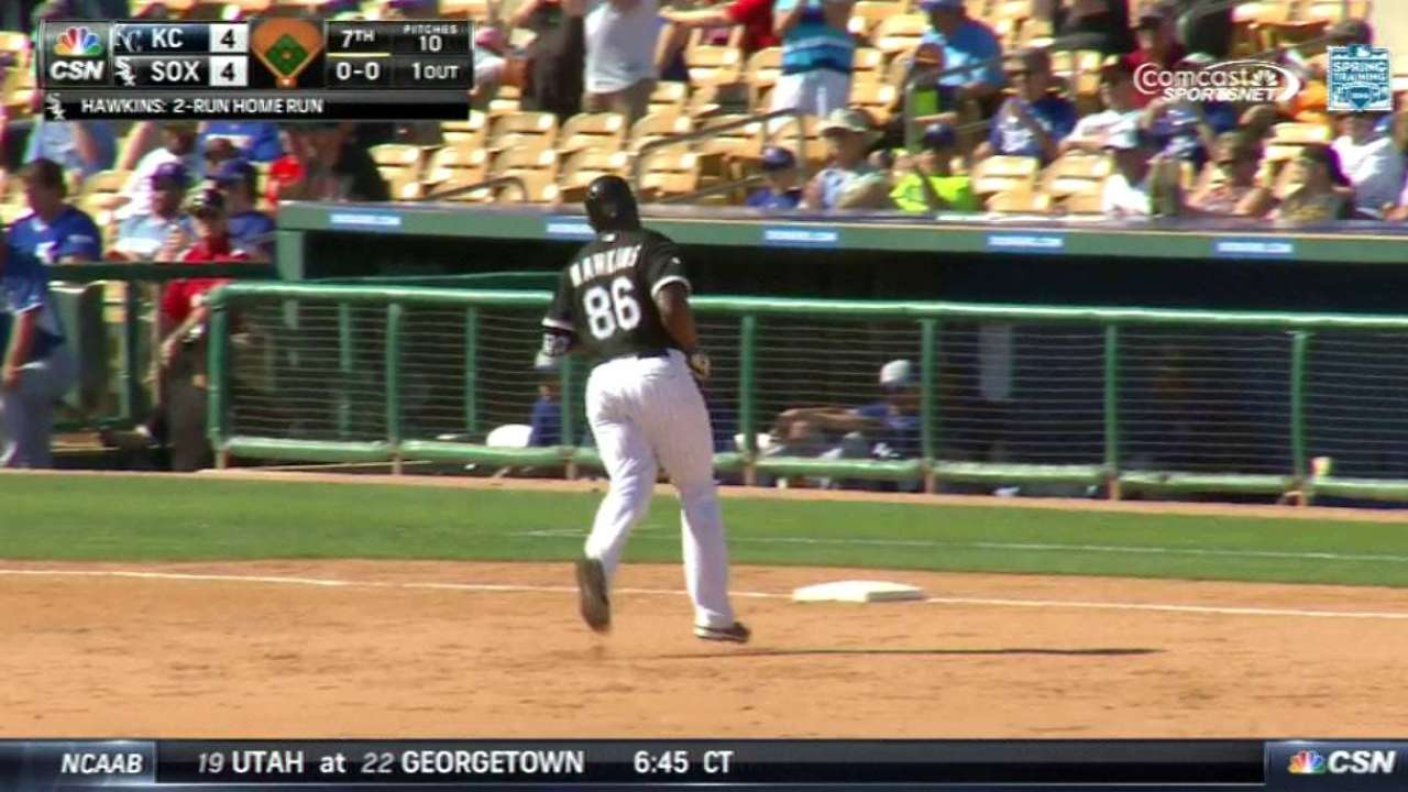 Hawkins' walk-off homer rallies White Sox past Royals