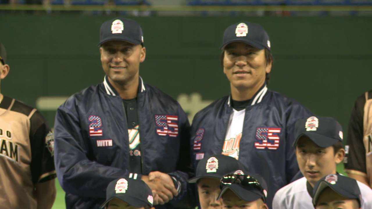 Jeter, Matsui reunite in Japan for home run derby
