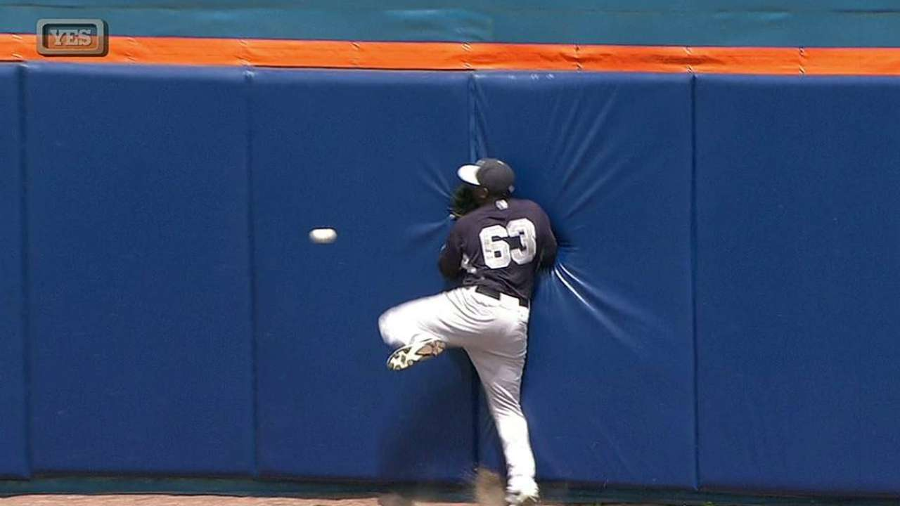 Pirela exits after hitting wall