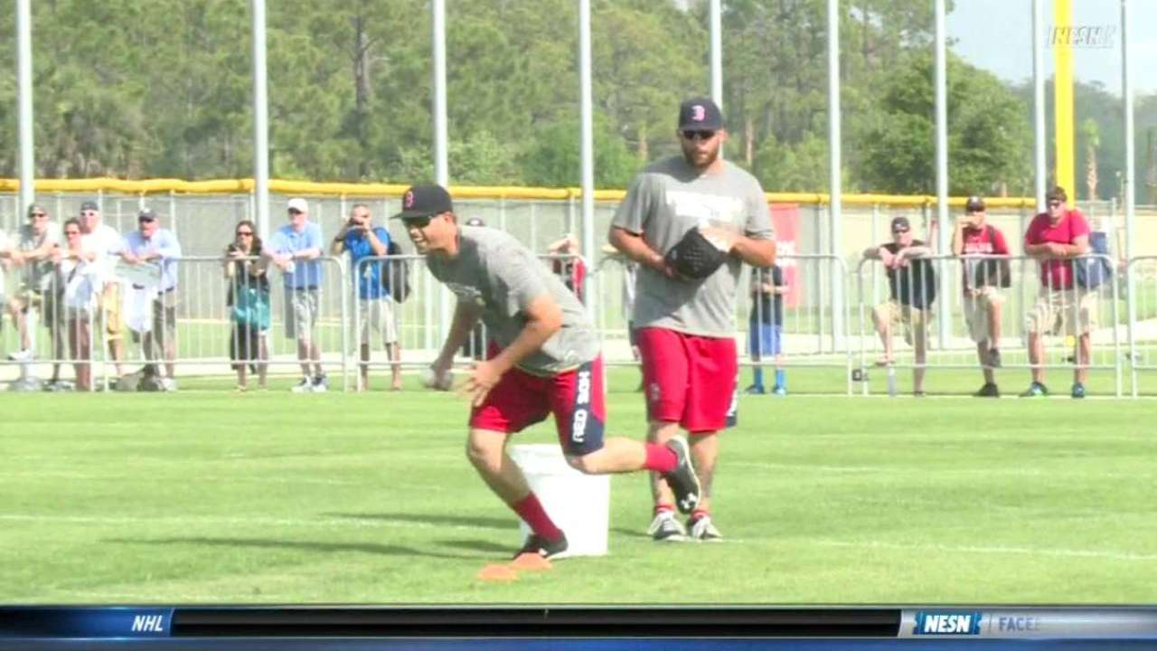Red Sox relay race decides who stays home
