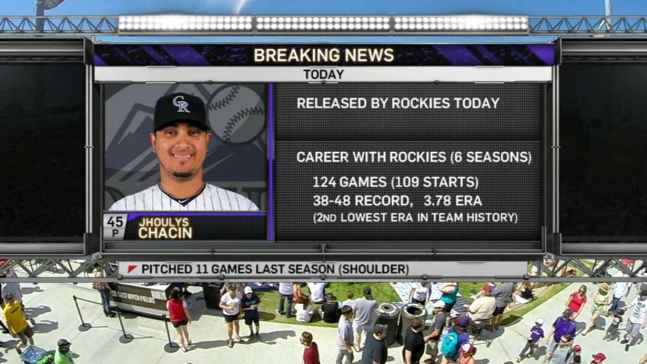 Rockies unexpectedly part ways with Chacin