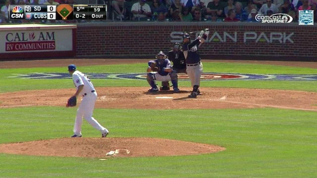 Hammel's ninth strikeout