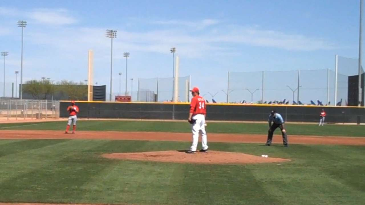 Bailey feels good after starting in Minor League game