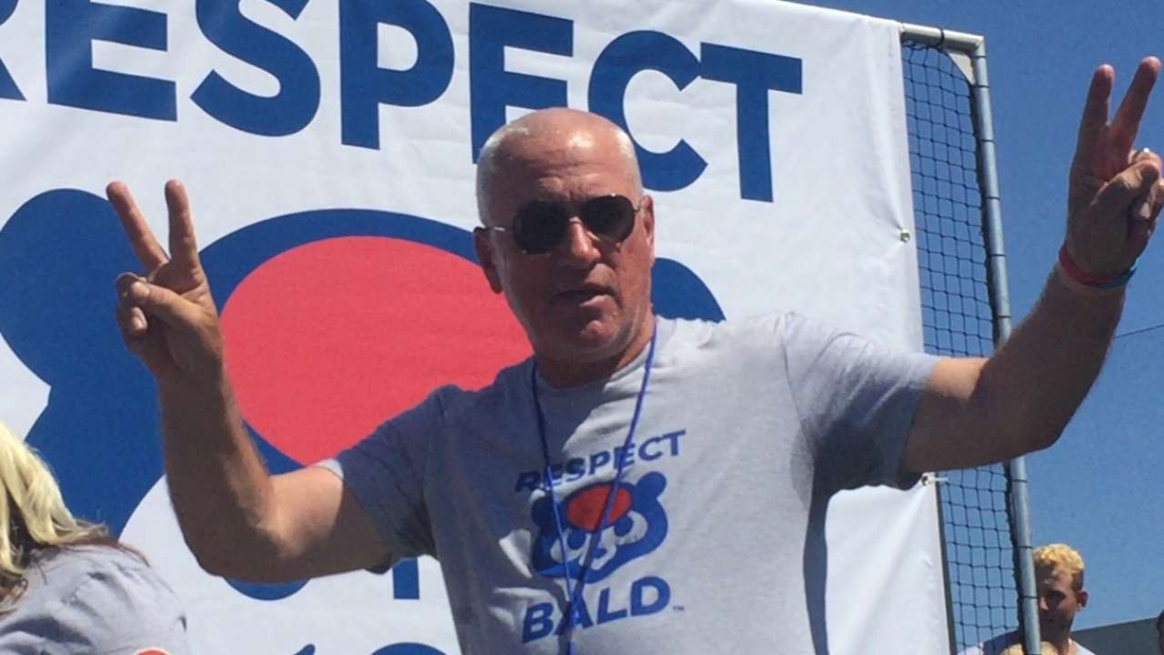 Cubs lose locks for 'Respect Bald' campaign