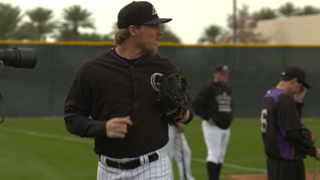 MLB Pipeline checks in from Rockies camp