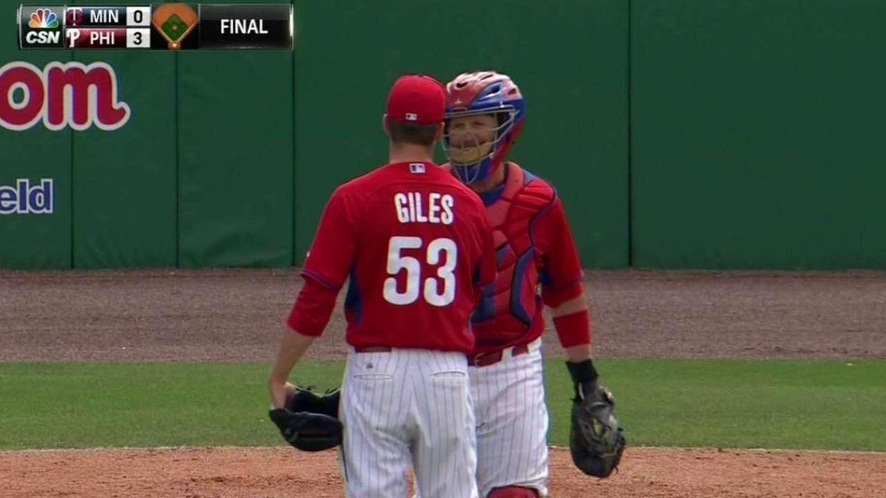 Giles earns the save
