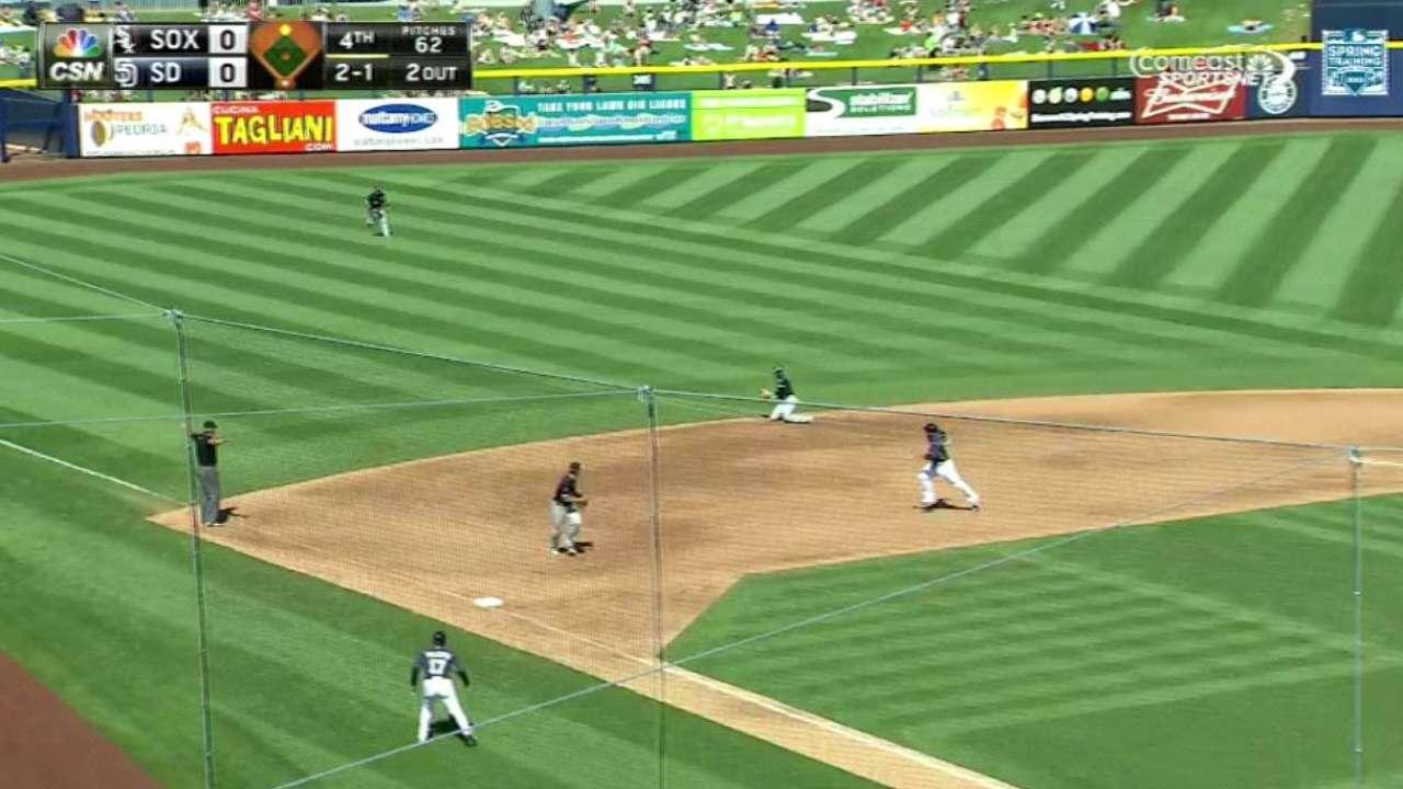 Ramirez steals hit with dive