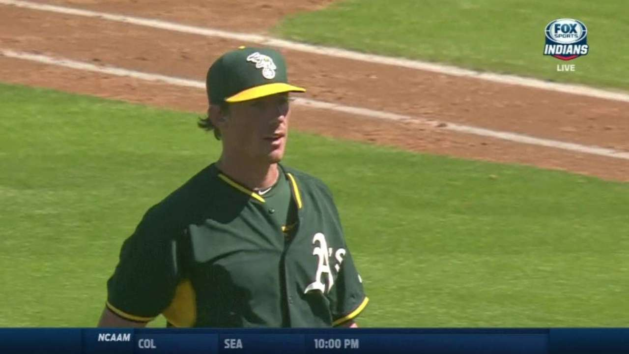 Bassitt takes step back in bid for A's rotation