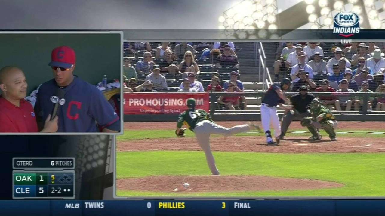 Otero strikes out Moss swinging
