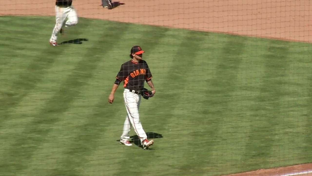 Posey's tip gives Peavy new pitching weapon