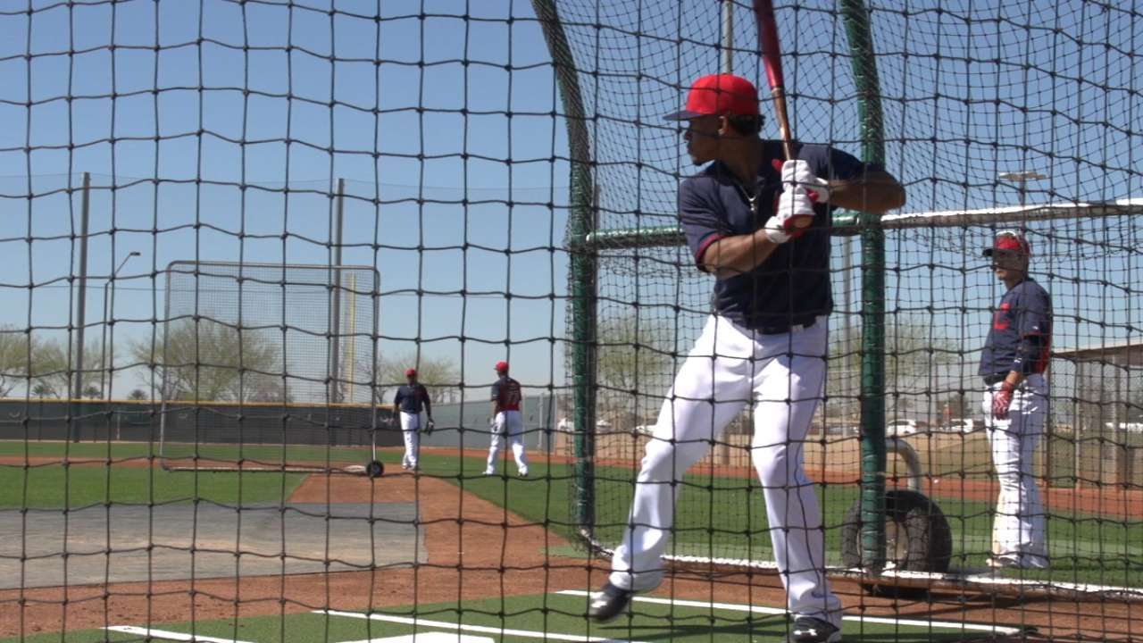 MLB Pipeline checks in from Indians camp