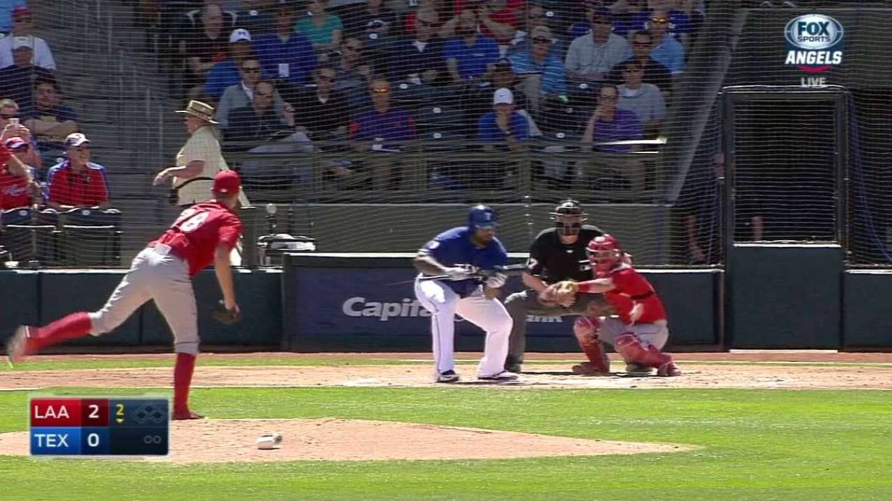 Fielder's bunt single to third
