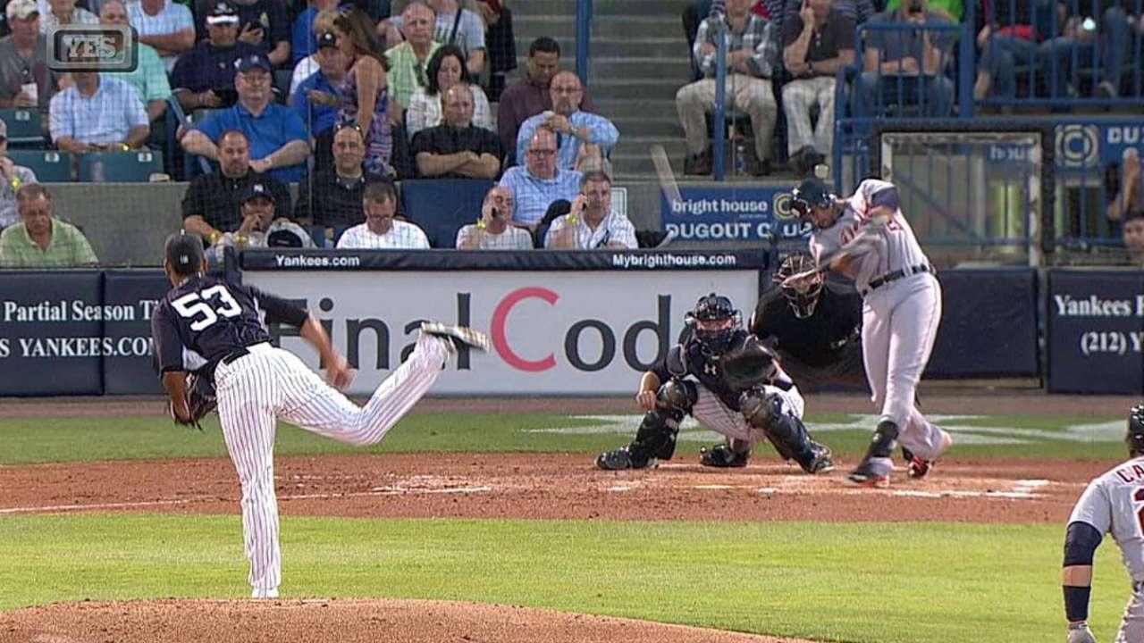 J. Martinez's two-run double