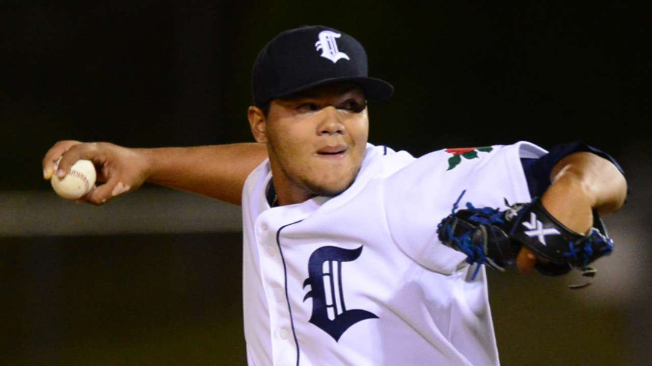 Righty Jimenez to rep Tigers at Futures Game