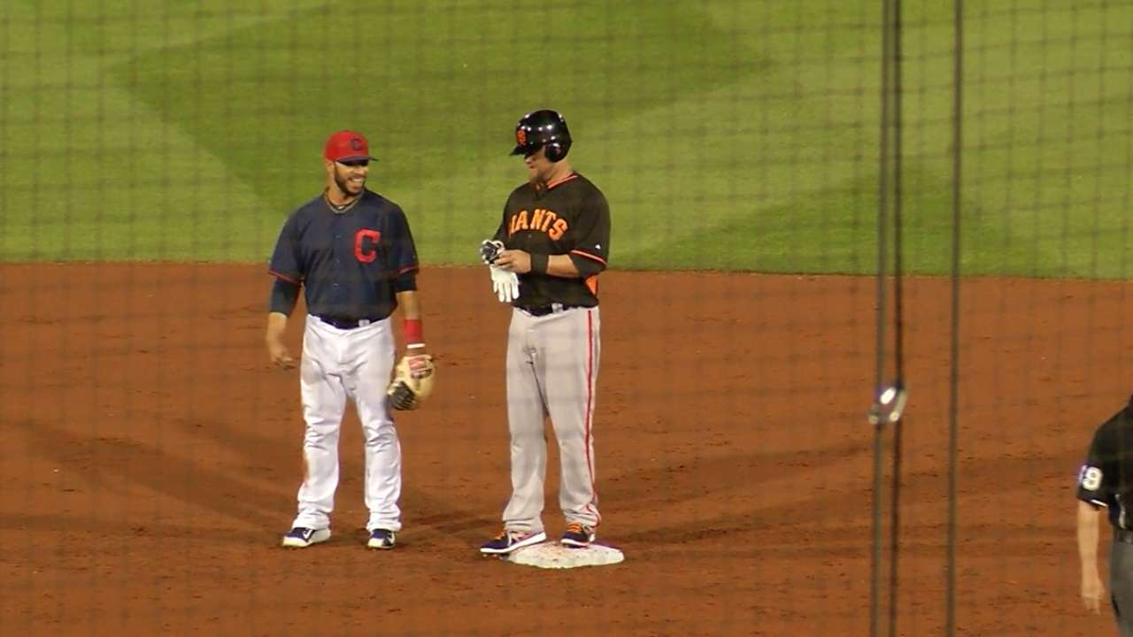 Vogelsong gives up pair of homers against Indians