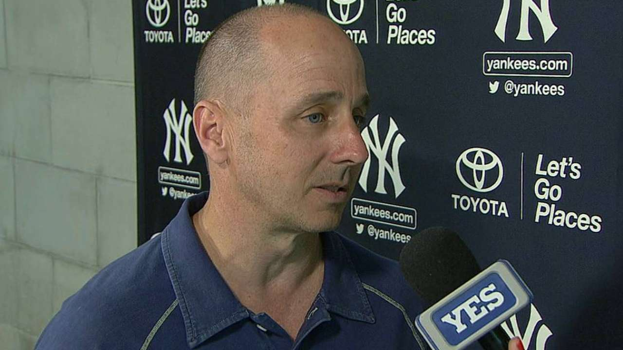 Cashman on the Yankees' roster