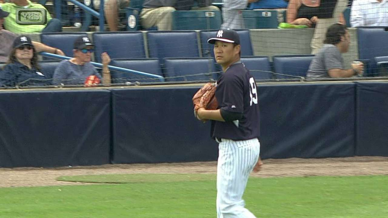 Tanaka gets his fifth strikeout