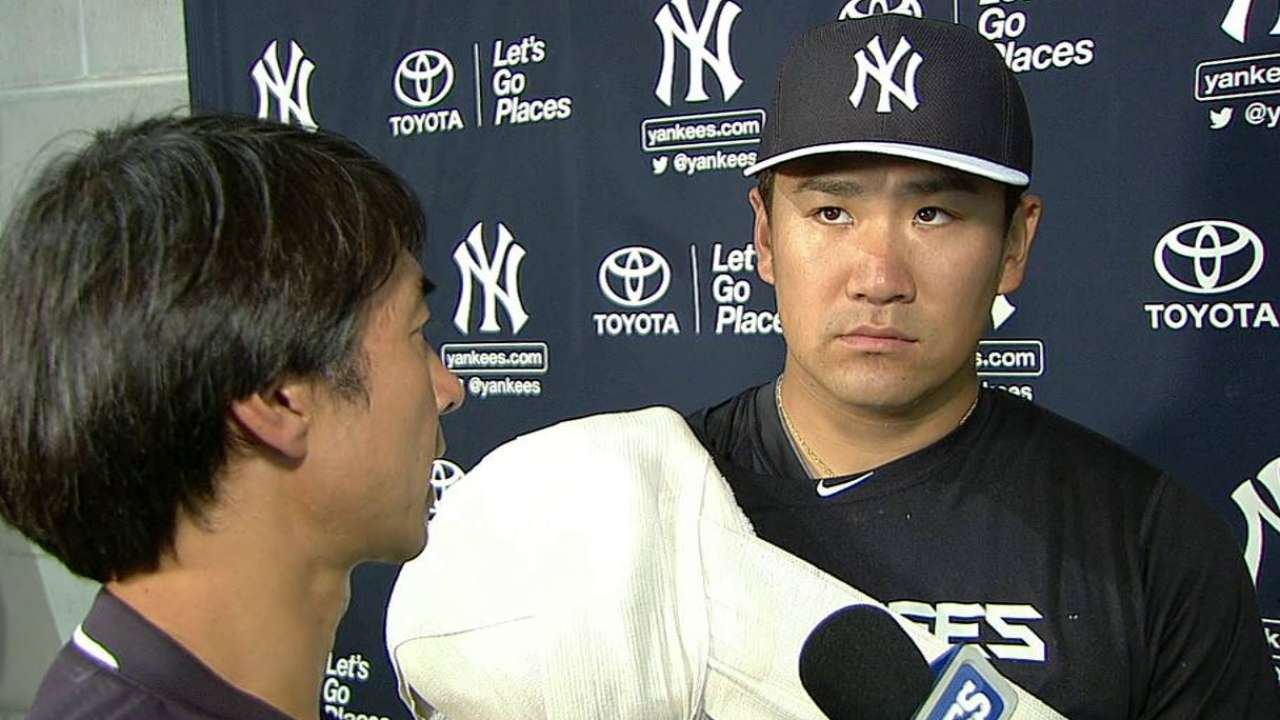 Tanaka expects pitch speeds to be lower