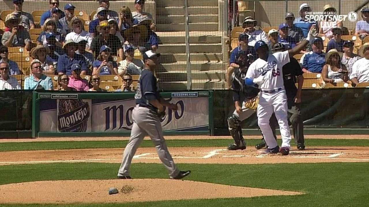 Puig's long two-run homer